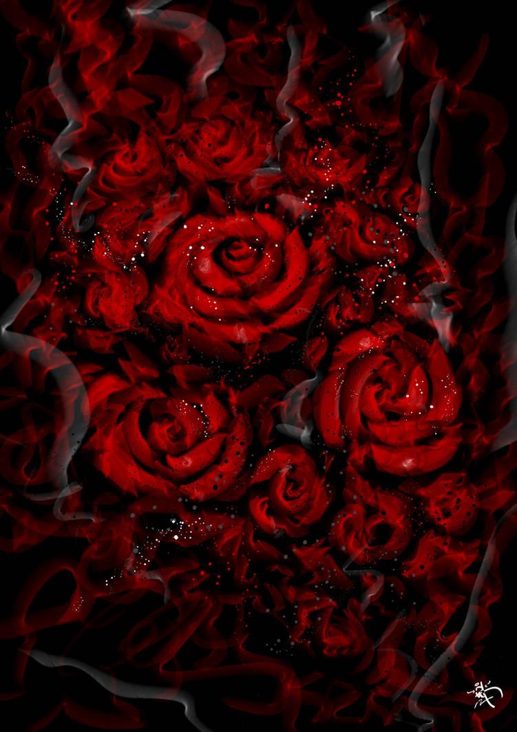 Roses: Graffiti Smoke/splatter style development