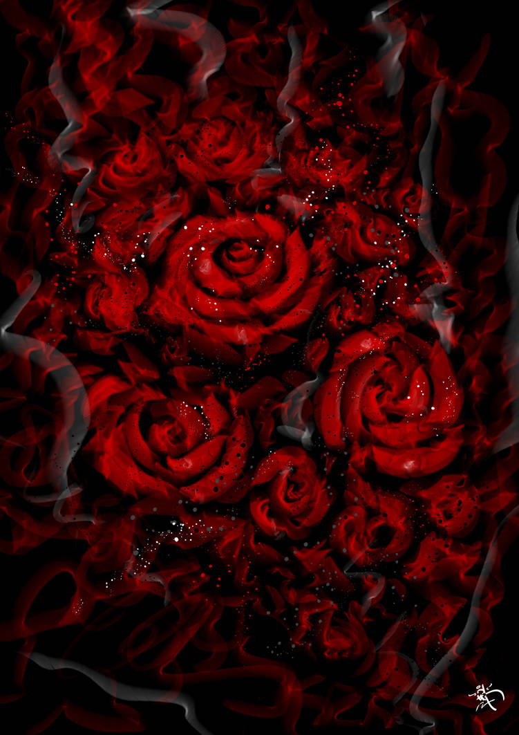 Roses: Graffiti Smoke/splatter style development by kitster29
