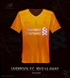 bbb086c0d kitster29 0 0 Liverpool gold Away shirt 2015 16 by kitster29