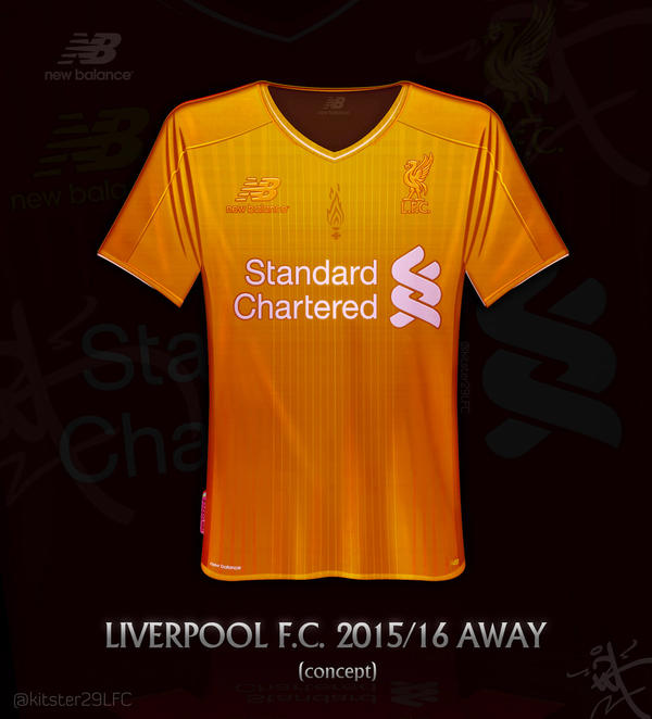 the best attitude bacba b8fc5 Liverpool gold Away shirt 2015/16 by kitster29 on DeviantArt
