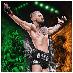 Conor McGregor Painting by kitster29