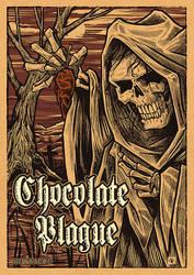 Chocolate Plague Hot Sauce label