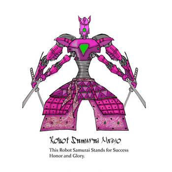 Robot Samurai Meiyo by Aeoline