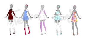 Mixed Outfits Batch set price CLOSED by terra-adopts