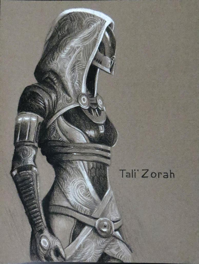 Tali'Zorah Charcoal by Quinton-Watson