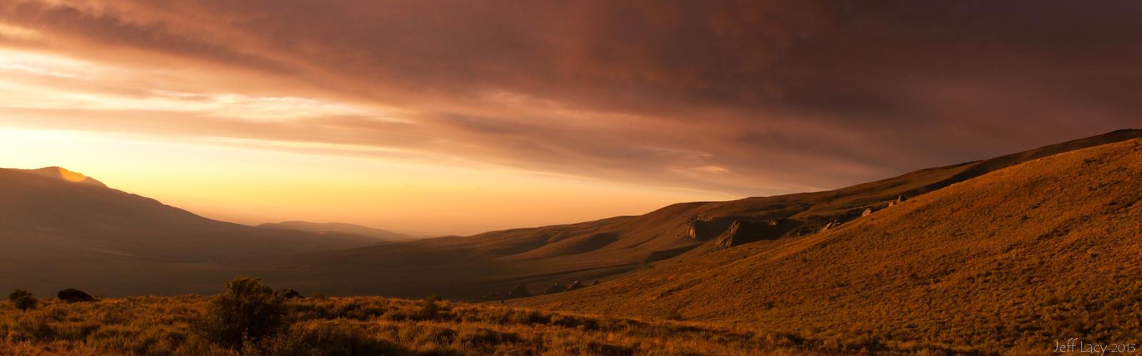high desert sunset: dual widescreen wallpaperwetdog969 on deviantart