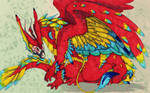 Scarlet Macaw Dragon