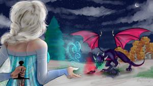 .:The dark ice:. |Cynder VS Elsa| remastered
