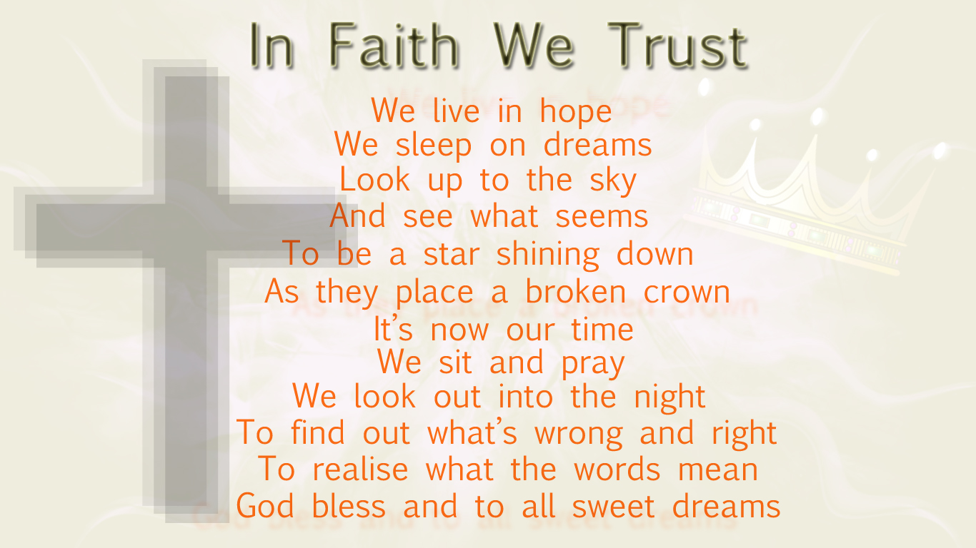 'In Faith We Trust' Poem by cozzie333