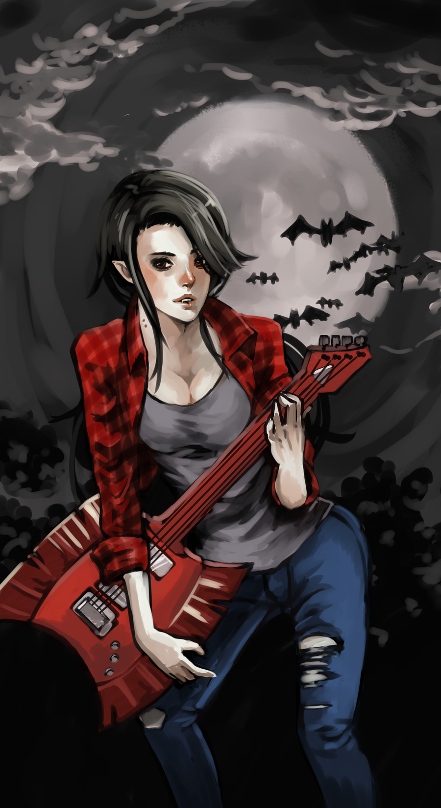 Marceline The Vampire by i-chou