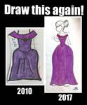 Redraw: purple dress
