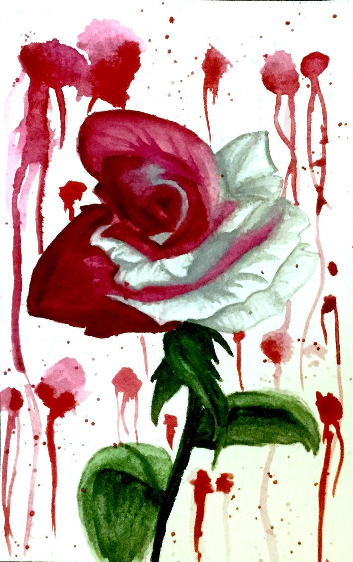Blood rose by MaryMythos