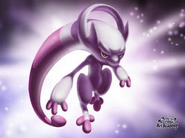 M-Mewtwo Y / Pokemon Art Academy by Prince-Stephen