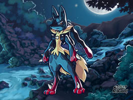 M-Lucario / Pokemon Art Academy by Prince-Stephen