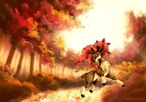 Collab : Haydaim / Sawsbuck - Pokemon Art Academy by Prince-Stephen