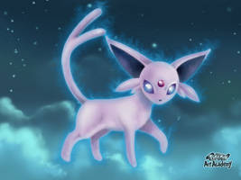 Espeon - Mentali / Pokemon Art Academy by Prince-Stephen