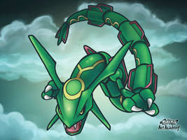 Rayquaza / Pokemon Art Academy by Prince-Stephen