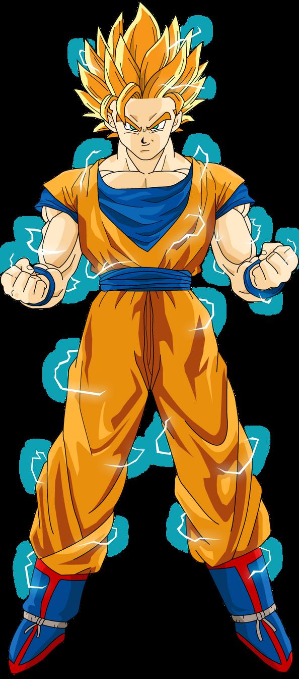Goku super saiayin 2 by luigicuau10 on deviantart - Sangoku super sayen 2 ...