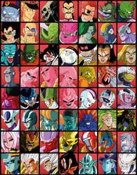 Villanos Universo Dragon Ball by luigicuau10