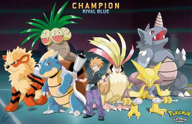 Champion Blue Team Pokemon