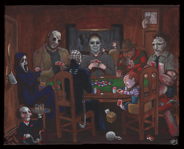 Horror movie characters playing poker casino saint gilles croix de vie restaurant