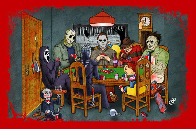Horror Icons Playing Poker (redux) By Photon-nmo On DeviantArt