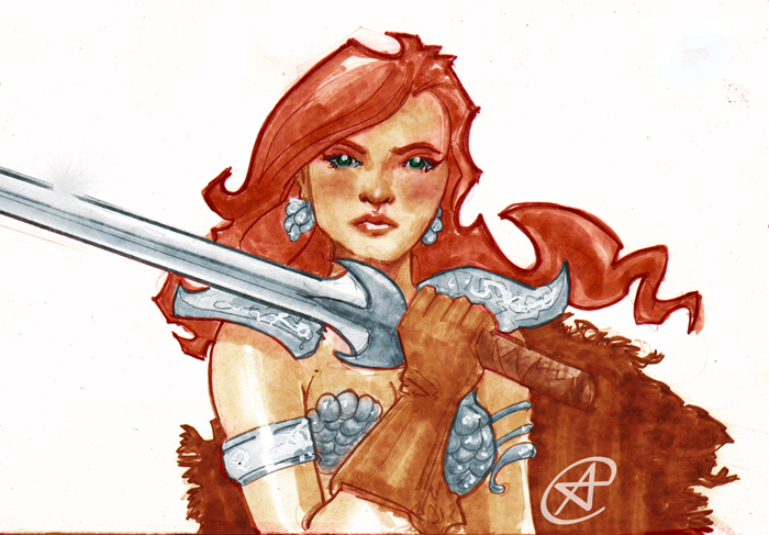 Red Sonja by photon-nmo