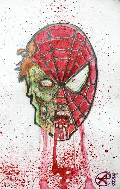 Zombie Spiderman by photon-nmo