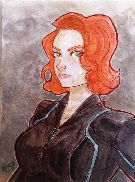 Black Widow comission by photon-nmo