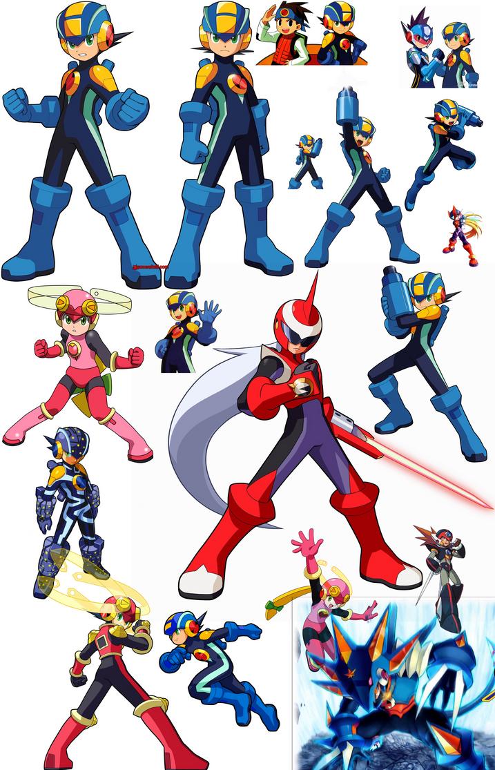 Megaman Battle Network Battlepose by DarkMatterGod