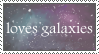 Loves Galaxies Stamp by AlicornNinja