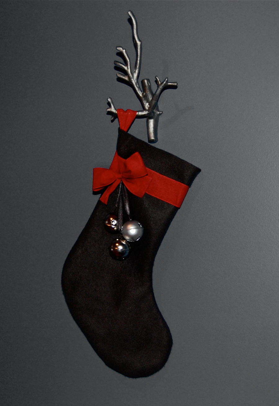 Jingle bell stocking by white berries on deviantart