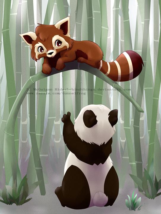 Two Pandas by HidesBehindThings