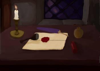 Letter scene by ArtofLeogrim