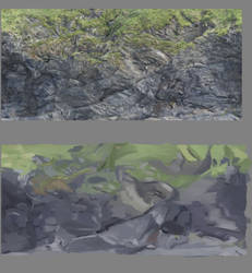 Cliff Study by ArtofLeogrim
