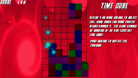 Time Cube PSP Game Play by Razzlegames
