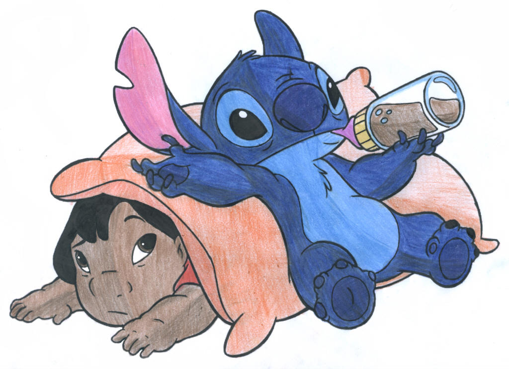 Drawings of Lilo And Stitch Lilo Stitch Colour Practice 3