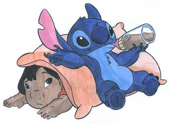 Lilo+Stitch Colour Practice 3 by Dragonix