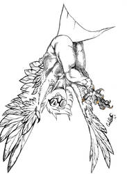 Inktober Day 1: Harpy by Blinklight