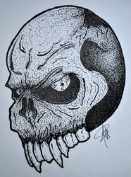 Bizarre Vampire Skull by yudhabastard