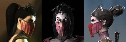 The hairstyles of Vampiress Mileena by ChamKham