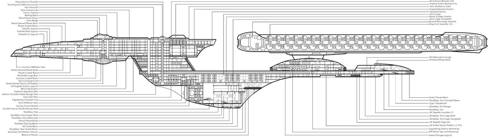 Uss Excelsior Cross Section By Chimera335 On Deviantart