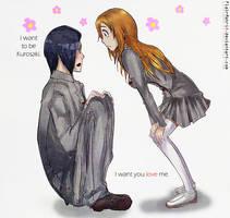 Ishida and Orihime by FlairMatriX