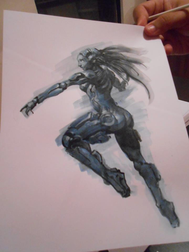 Cyberlady by artbycarlos