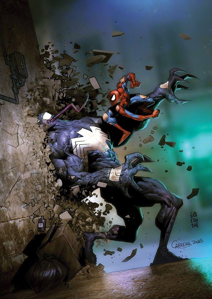 Venom vs Spidey by artbycarlos