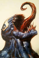 Venom - Acrylic painting by artbycarlos