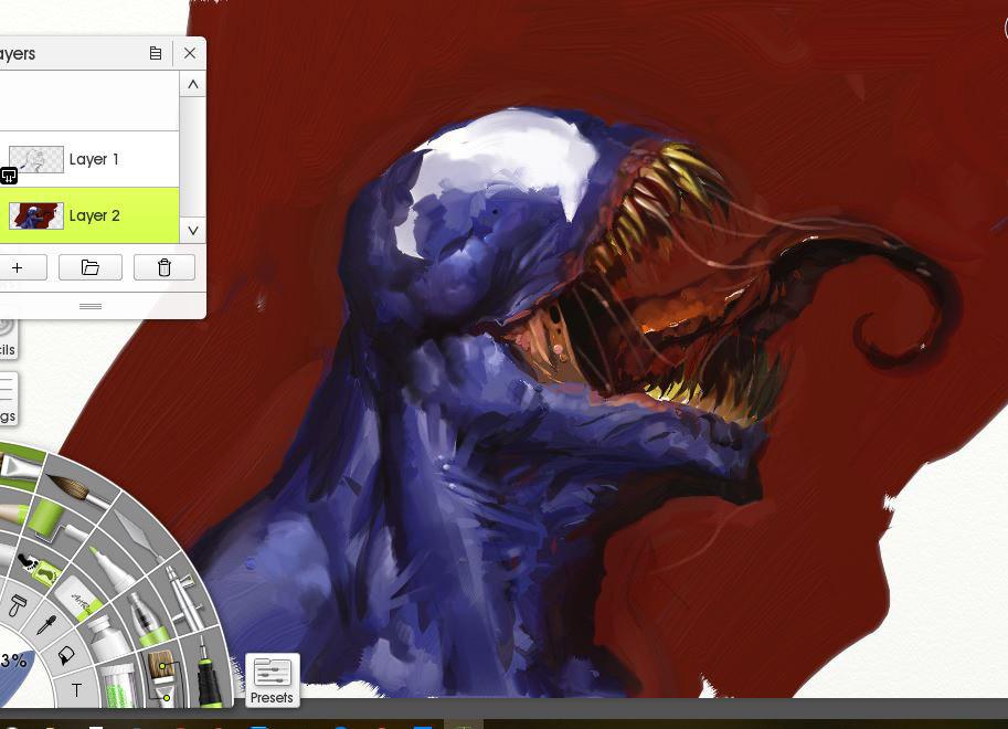 Venom Artrage by artbycarlos
