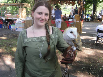 Lady and the owl