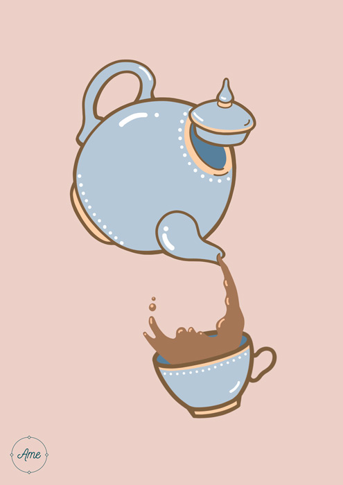 Tea Time Blue