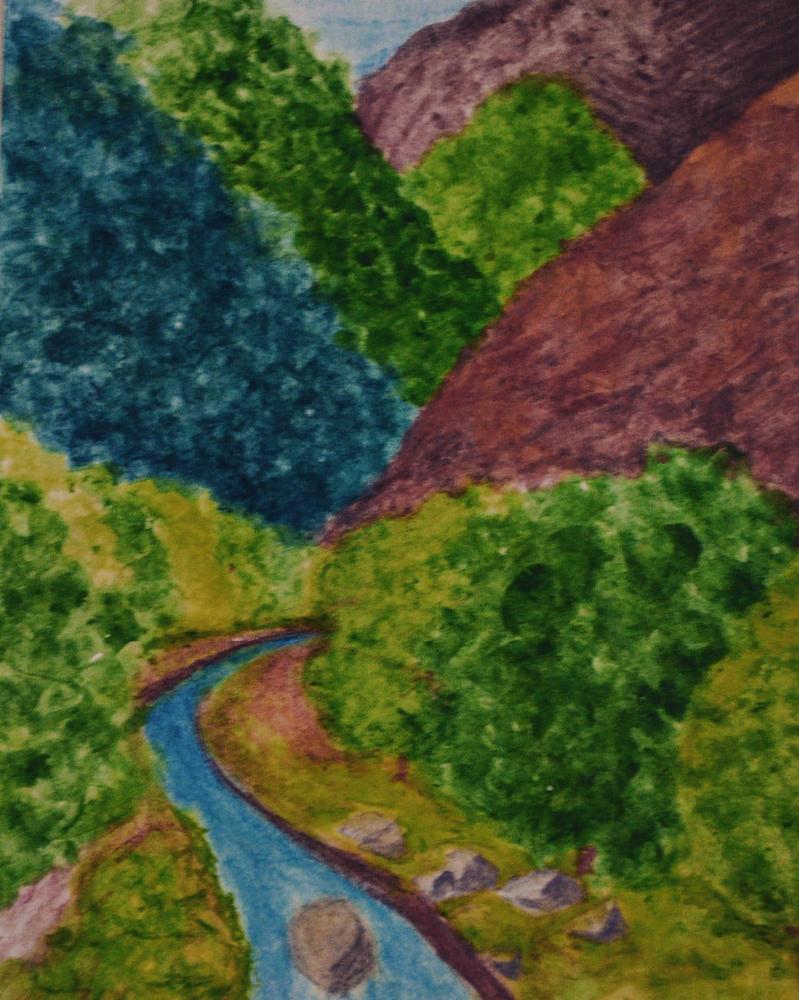 Watercolor scenario study by lizbeth-boo-nana